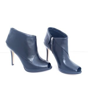 Michael Kors High Heel Peep Toe Ankle Boots